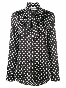 Moschino polka dot print blouse - Black
