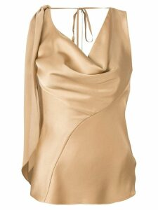 Roberto Cavalli cowl neck blouse - Gold