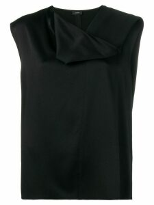 Joseph draped neck top - Black