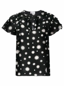 Red Valentino star print blouse - Black