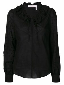 See By Chloé frilled blouse - Black
