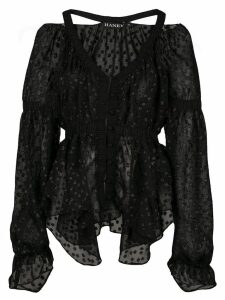 Haney Juliette ruffle blouse - Black