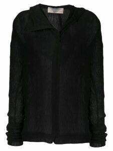 Juan Hernandez Daels Tabla crinkled hoodie - Black