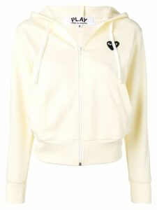 Comme Des Garçons Play logo embroidered hoodie - Yellow