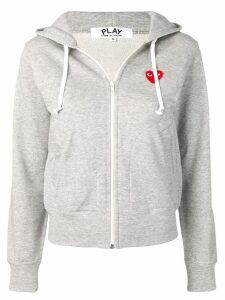Comme Des Garçons Play heart logo hoodie - Grey