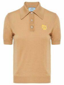 Prada logo polo shirt - Neutrals