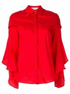 Juan Hernandez Daels Cafka ruffed shirt - Red