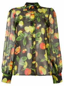 MSGM fruit print shirt - Green