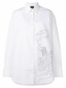 Calvin Klein 205W39nyc oversized embroidered shirt - White