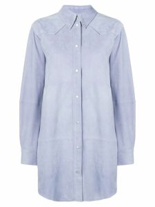 Isabel Marant Étoile oversized leather shirt - Blue