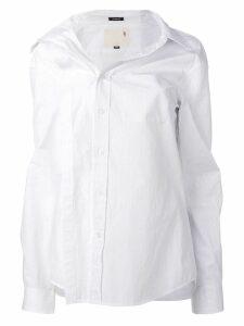 R13 asymmetric buttoned shirt - White