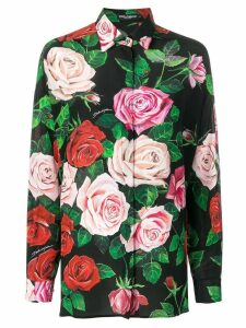 Dolce & Gabbana Rose print shirt - Black