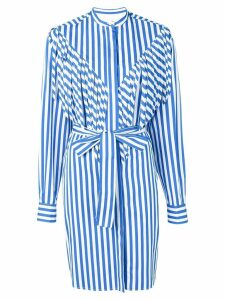 MSGM long striped shirt - Blue