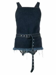 Marques'Almeida belted vest top - Blue