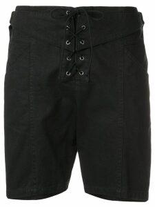 Saint Laurent lace-up shorts - Black