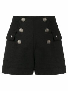 Balmain button-embellished shorts - Black