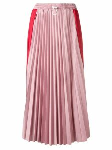 Moncler two tone pleated skirt - Red