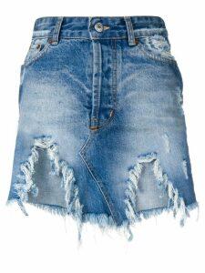 Forte Dei Marmi Couture destroyed denim skirt - Blue