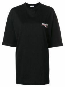 Balenciaga Political Campaign T-shirt - Black