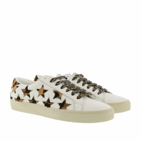 Saint Laurent Sneakers - Court Classic Leopard California Sneaker Leather Optic White - white - Sneakers for ladies
