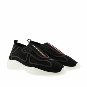 Prada Sneakers - Fabric Slip-On Sneakers Black/White - black - Sneakers for ladies