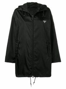 Prada hooded satin-shell parka - Black
