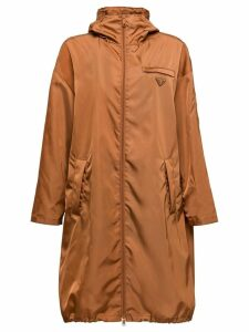 Prada nylon gabardine raincoat - Brown