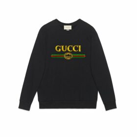 Oversize sweatshirt with Gucci logo
