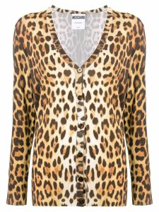 Moschino animal print cardigan - Brown