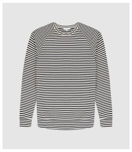 Reiss Didsbury - Striped Long Sleeved Top in White/navy, Mens, Size XXL
