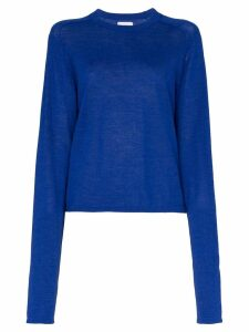 Carcel extended sleeve alpaca wool jumper - Blue
