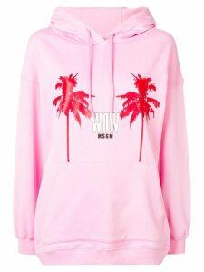 MSGM palm tree hoodie - Pink