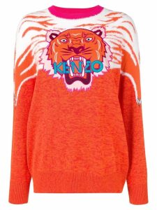 Kenzo Perched Tiger sweater - ORANGE