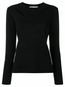 DVF Diane von Furstenberg cut-out detail jumper - Black