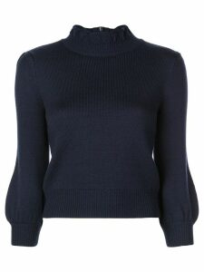 Co bubble sleeves knit sweater - Blue
