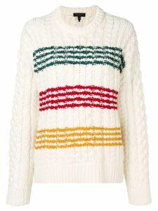 Rag & Bone Mindy striped jumper - White