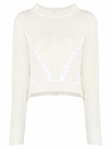 3.1 Phillip Lim cropped knitted jumper - White
