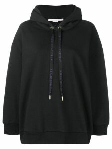 Stella McCartney logo drawstring hoodie - Black