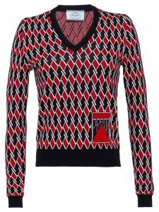 Prada Wool jacquard sweater - Red