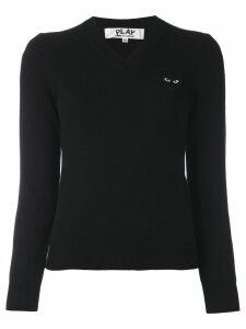 Comme Des Garçons Play embroidered heart jumper - Black