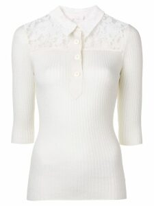 See By Chloé floral lace-panelled top - White