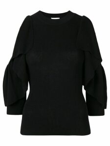 See by Chloé open shoulders knitted sweatshirt - Black