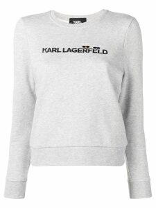 Karl Lagerfeld embroidered logo sweatshirt - Grey