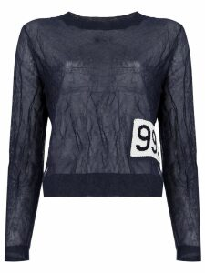 Aalto number patch sweatshirt - Blue