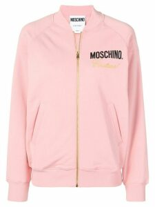 Moschino zipped up sweater - PINK