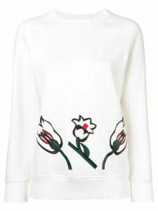 Sonia Rykiel tulip print sweatshirt - White