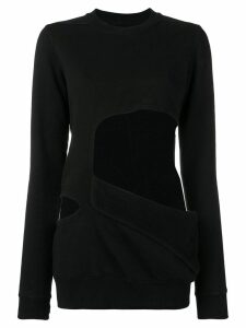Rick Owens DRKSHDW cut-out sweatshirt - Black