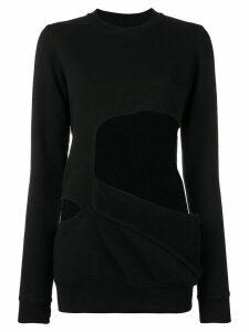 Rick Owens DRKSHDW cut-out sweatshirt - Black