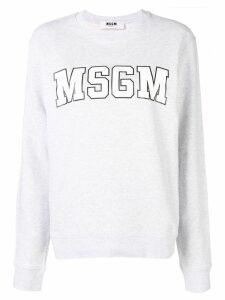 MSGM logo print sweatshirt - Grey