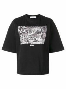 MSGM Grand Hotel T-shirt - Black